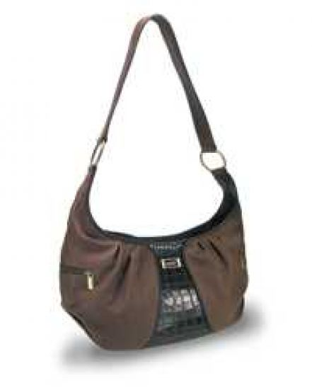 Large Leather Brown/Black Purse