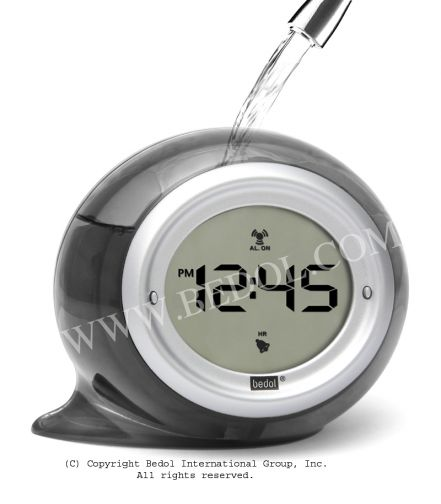 Squirt Alarm The Bedol Water Clock Charcoal