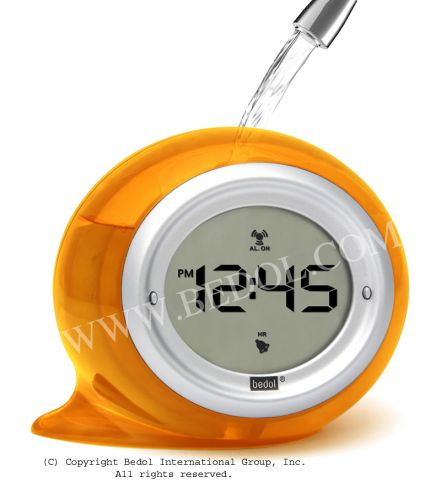 Squirt Alarm The Bedol Water Clock Orange