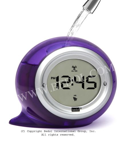 Squirt Alarm The Bedol Water Clock Plum